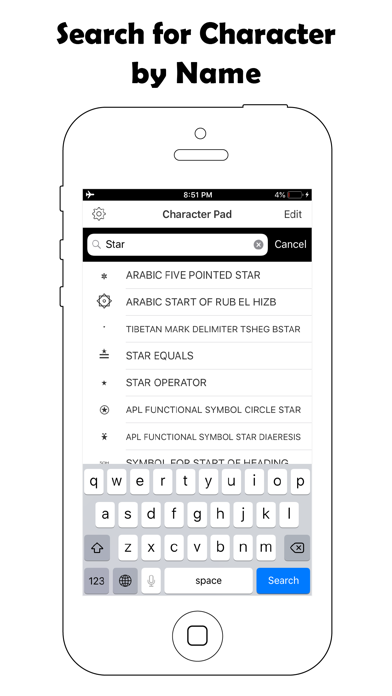 Screenshot #1 pour Symbol Keyboard-Character Pad