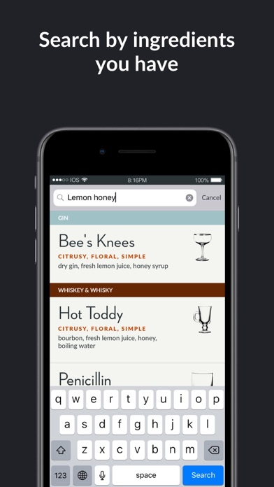 Elemental Cocktails - For cocktail enthusiasts screenshot
