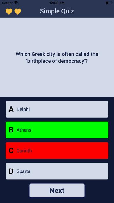 Carpenter Quiz screenshot 2