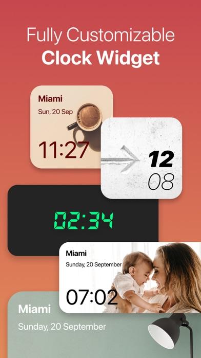 Clock Widget: Custom Clock Appのおすすめ画像1