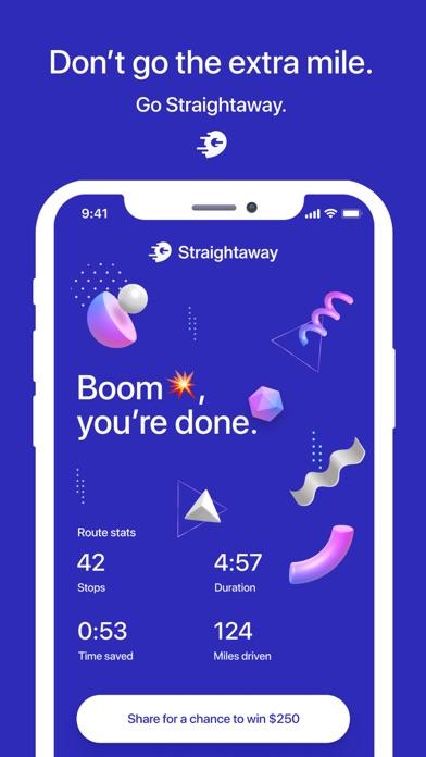 Straightaway Route Planner Screenshot