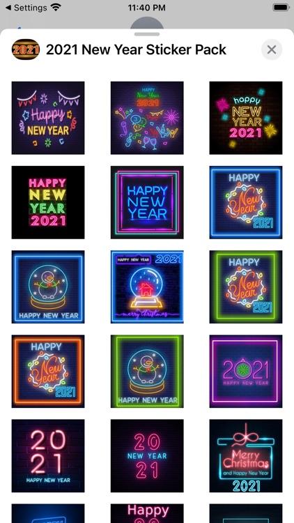 2021 New Year Sticker Pack screenshot-3