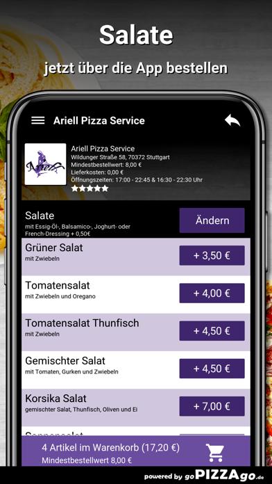 Ariell Pizza Service Stuttgart screenshot 5