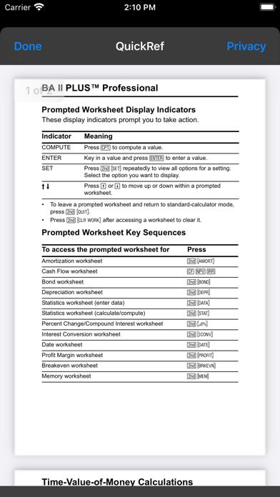 BA II Plus™ Financial Calc Screenshot