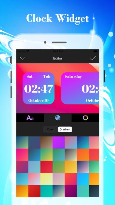 カラーデジタル時計ウィジェットのおすすめ画像4