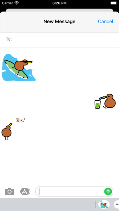 Animated Small Kiwi Sticker screenshot 1