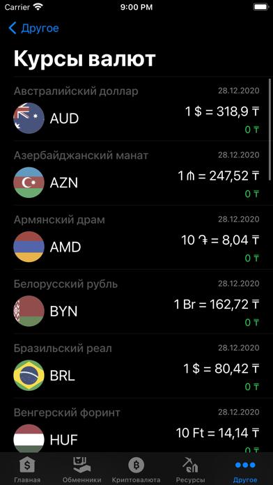 Курсы валют КазахстанаСкриншоты 4