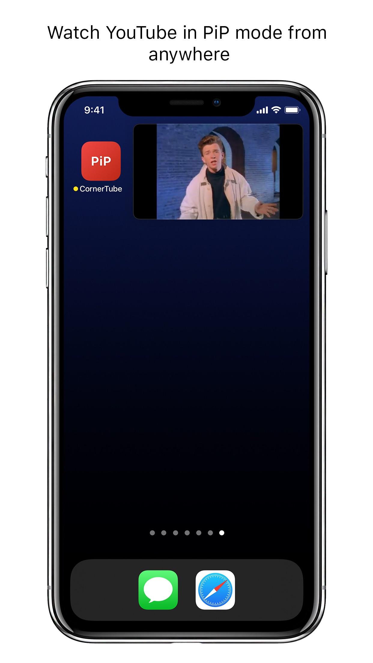 Screenshot do app CornerTube - PiP for YouTube