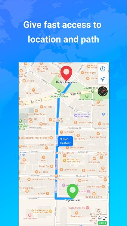 GPS Live Navigation, FreeMaps screenshot-4