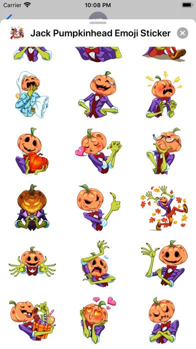 Jack Pumpkinhead Emoji Sticker screenshot 3