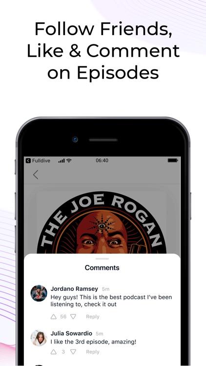 Divecast: Social Podcast App screenshot-3