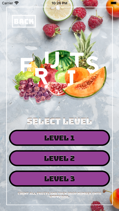 Count And Answer On Fruits screenshot 2