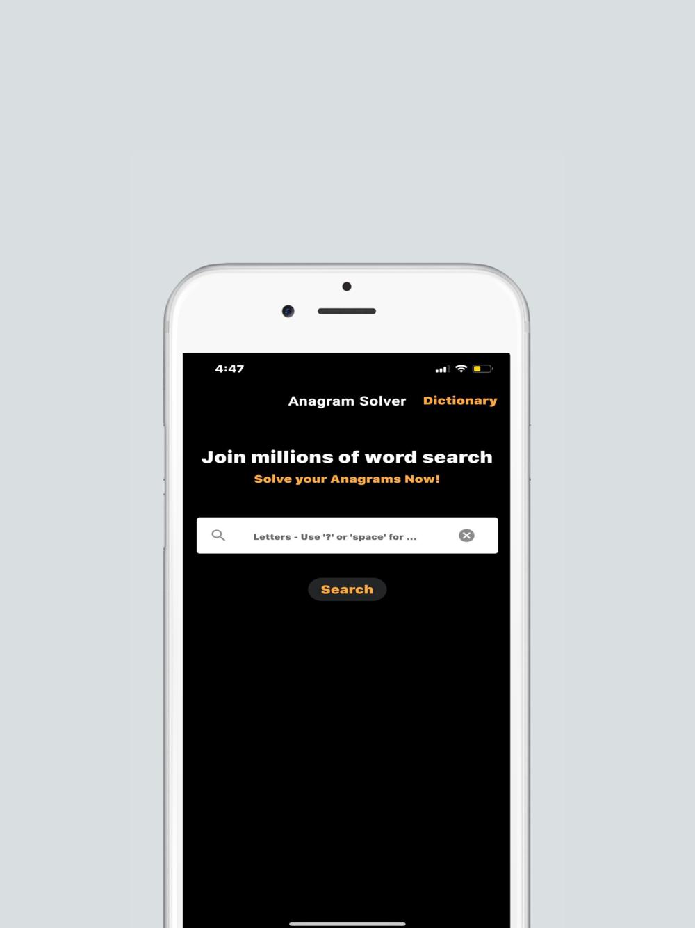 Anagram Solver App Free Download App for iPhone   STEPrimo.com