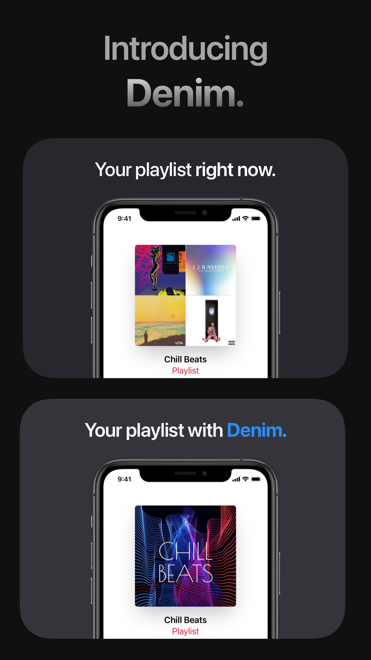 Screenshot do app Denim - Playlist Cover Maker