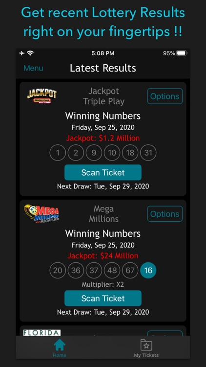 Florida Lottery Scan & Results