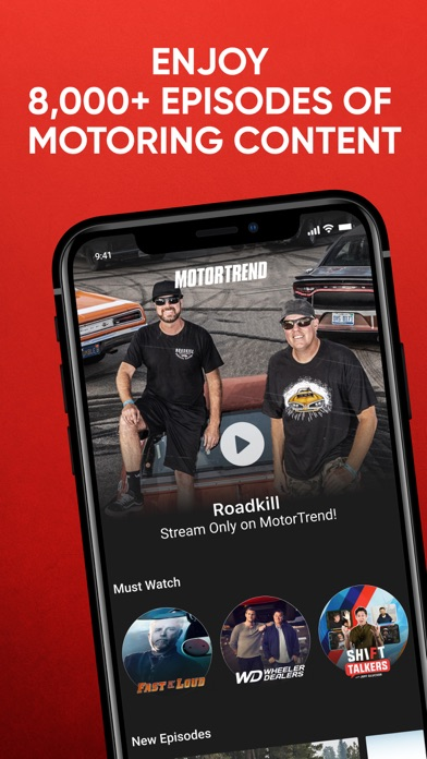 MotorTrend: Stream Car Shows Screenshot