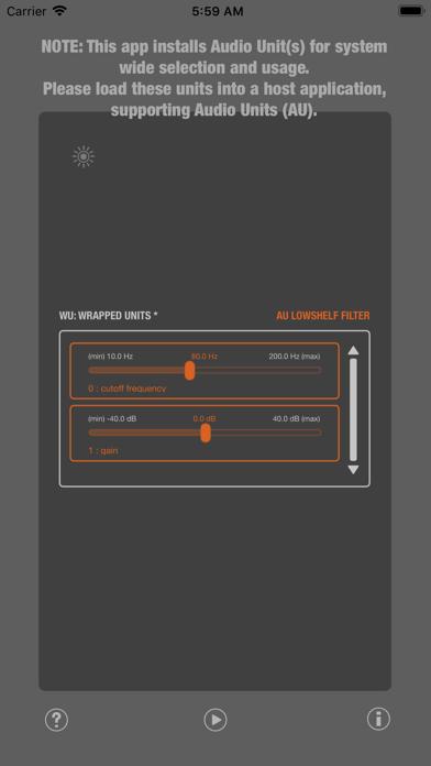 WU: AULowShelfFilter screenshot 1