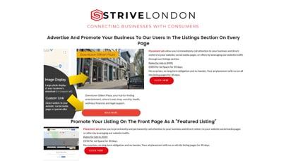 Screenshot of StriveLondon App