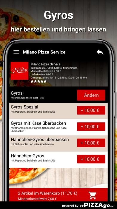 Milano Pizza Service Korntal screenshot 6