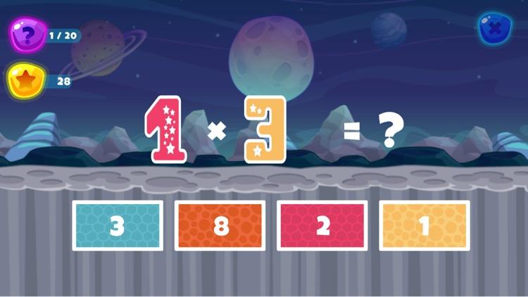 Fun Space Math Multiplication screenshot-5