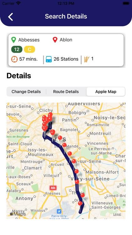 Paris Metro Routes and Map screenshot-7