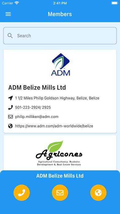 Belize Chamber of Commerce Screenshot