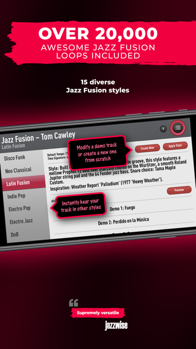 SessionBand Jazz Fusion screenshot 3