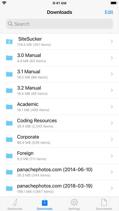 SiteSucker Screenshots