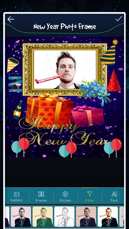 New Year photo Frame - Filter