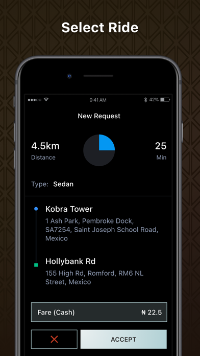 ClickToGo Driver Screenshot