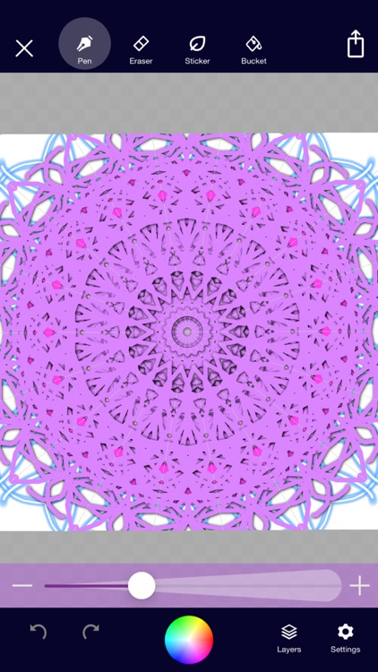 Mandala Maker: symmetry doodle screenshot-6