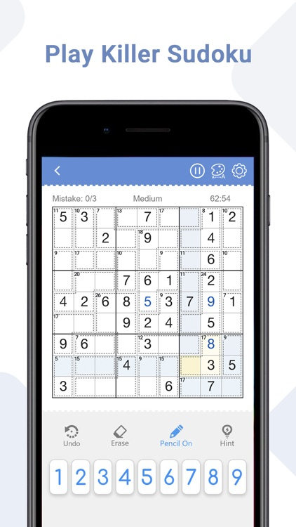 Killer Sudoku - Brain Games screenshot-0