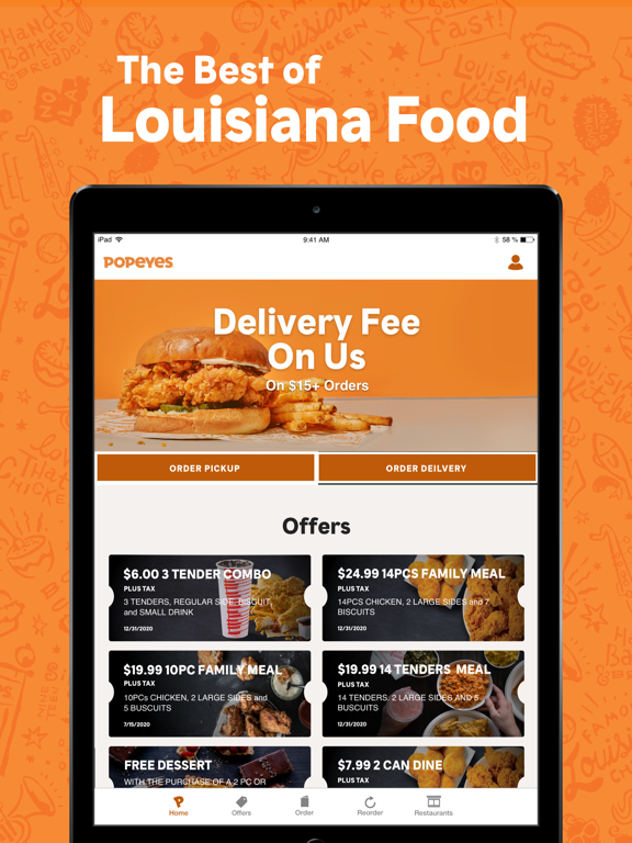 iPad Image of Popeyes®