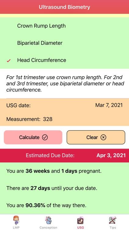 Pregnancy Due Dates Calculator screenshot-3