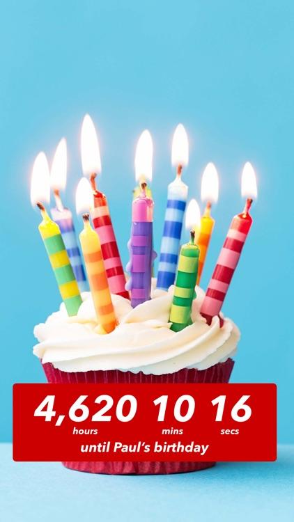 Birthday Countdown  screenshot-0