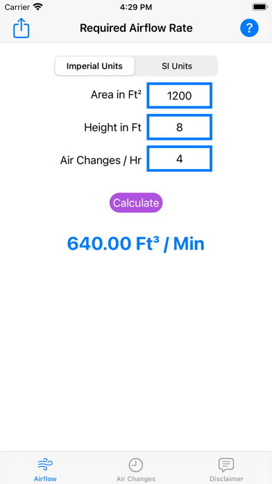Air Changes Screenshot