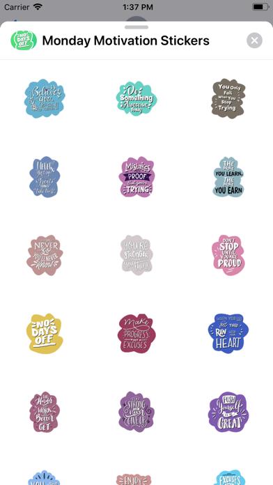 Monday Motivation Stickers screenshot 1