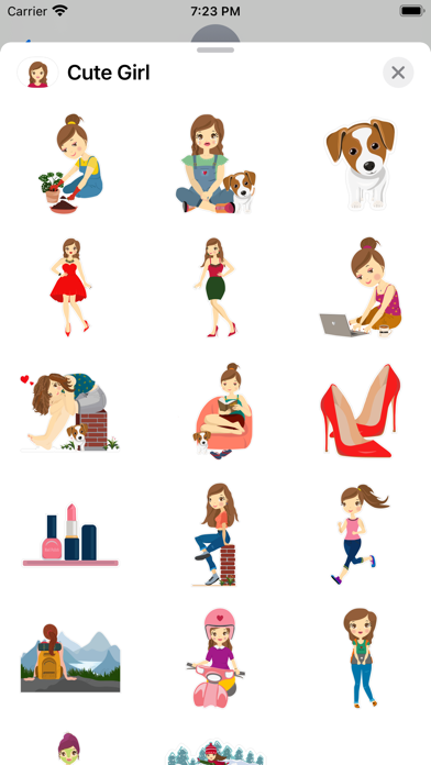 Cute Girl - Stickers Screenshot