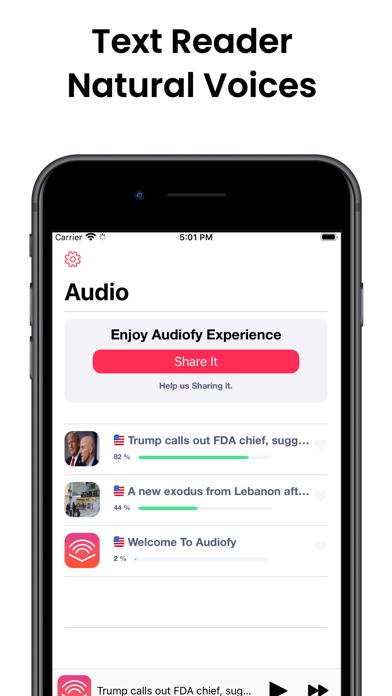 Audiofy -News Book Text Reader screenshot 4
