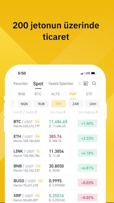 Binance - Bitcoin Alım Satımı iphone ekran görüntüleri