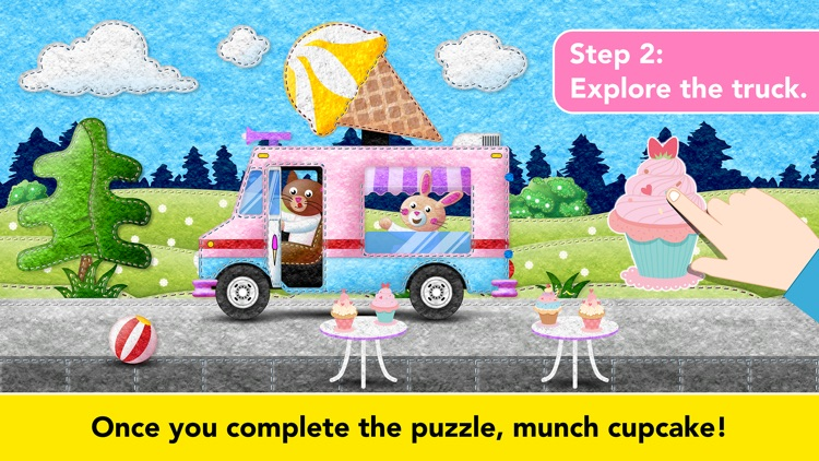 Ice Cream & Fire Truck Games 4 screenshot-3