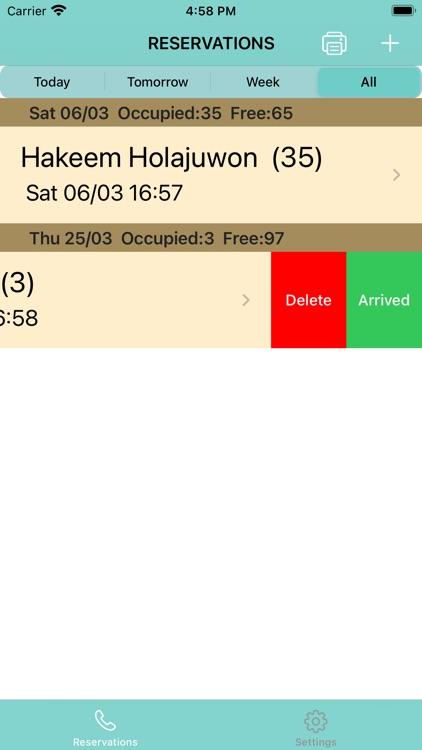 Reservation App screenshot-3