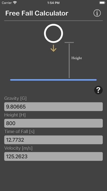 Free Fall Calculator screenshot-8