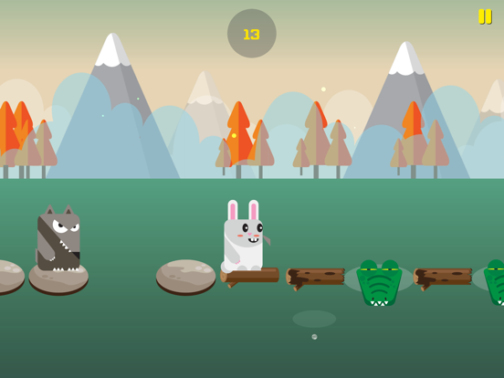 Rabbit Escape-Water jump screenshot 5