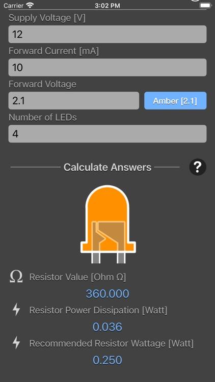 LED Resistor Calculator Plus screenshot-7
