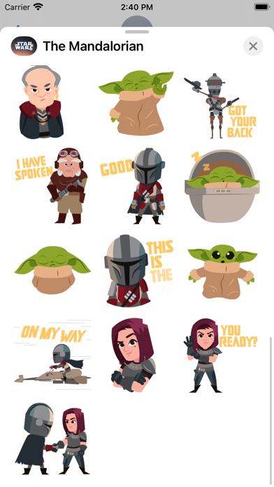 The Mandalorian Stickers Screenshot