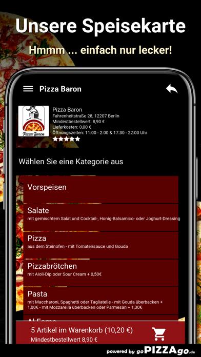 Baron Berlin Pizza screenshot 4