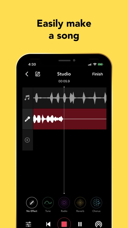 Rapchat: Record Songs, Audio screenshot-0