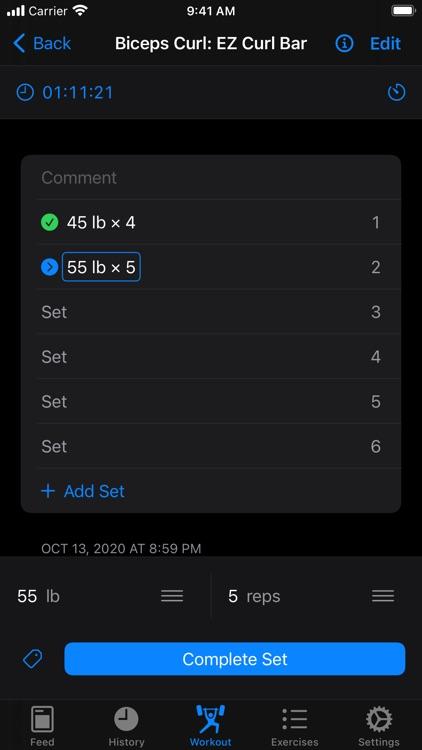 Iron - Workout Tracker screenshot-9