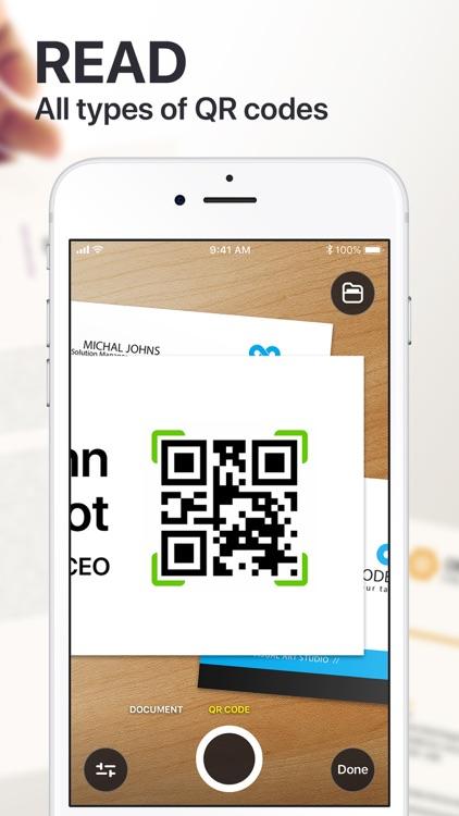 Scanner App PDF Docs & QR Code screenshot-6